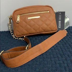 New Steve Madden BCrown Cognac Crossbody Belt Bag